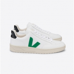 Zapatillas VEJA V-12 EXTRA WHITE EMERAUDE BLACK